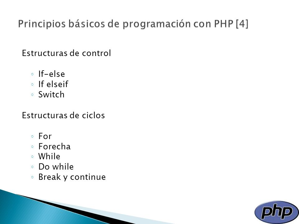 Principios básicos de programación con PHP [4]